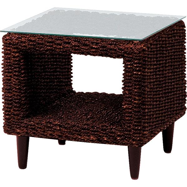 【送料無料】テーブル グランツシリーズ 丁寧に編みこまれたアバカ素材 サイドテーブル 選べる2色 ブラウン ナチュラル