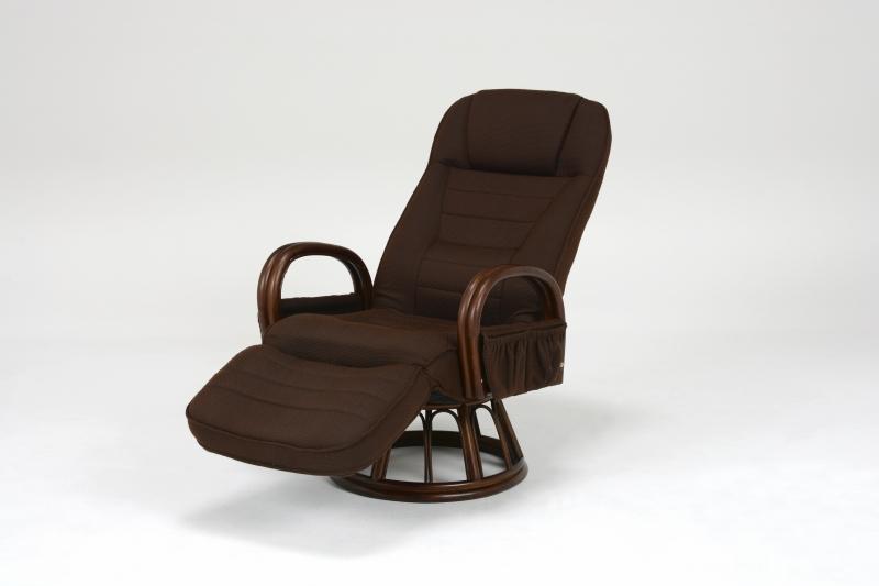 【送料無料】回転座椅子 ギア付き回転座椅子 回転式 肘付き ゆったりくつろげる リクライニング チェア