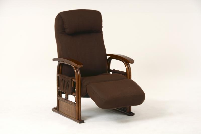 【送料無料】ギア付き座椅子 12段リクライニング 頭部13段 フットレスト6段ギア