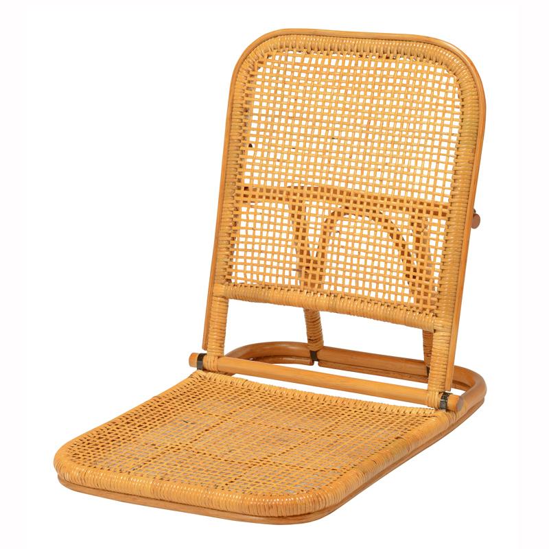 【送料無料】座椅子 4台セット 選べる2色 ブラウン ナチュラル 持ち運びラクラク 軽くて丈夫なラタン使った折りたたみ座椅子