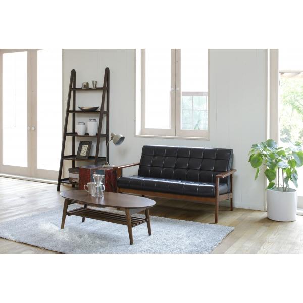 【送料無料】ソファ シャーク レトロなデザインと落ち着いた風合い ソファー 選べる2色 ブラック アイボリー