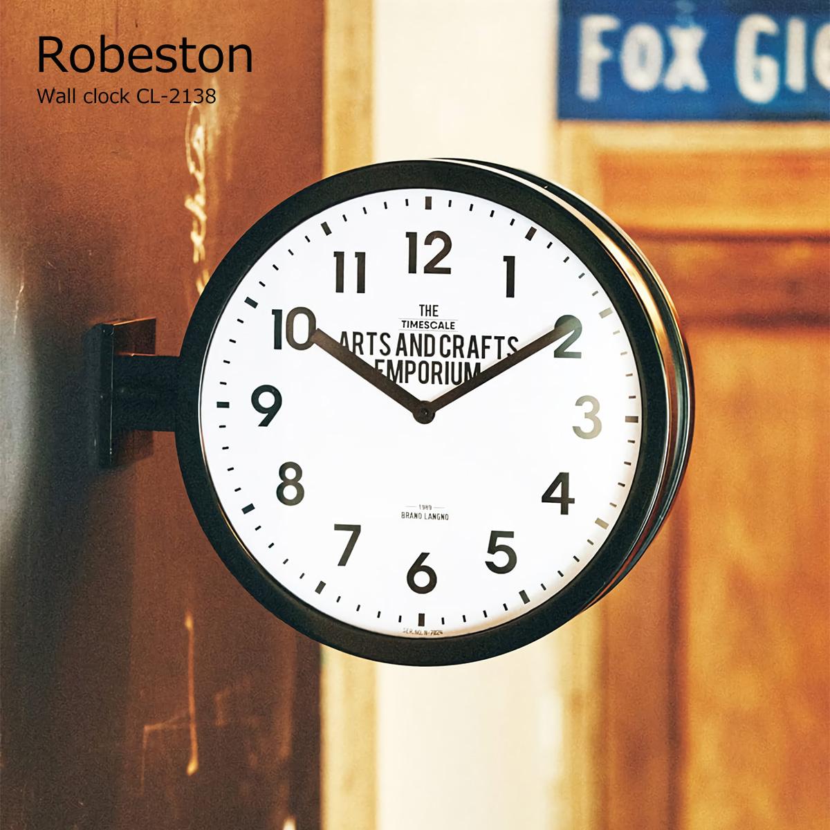 両面時計 アナログ オシャレ 壁掛け時計 オーバーのアイテム取扱☆ おしゃれ 時計 壁掛け 北欧 掛け時計 Robeston 公式ショップ ロベストン シンプル ウォールクロック あす楽 デザイナーズ 着後レビューでクーポン インテリア 音がしない 静音 PUP01 CL-2138 見やすい