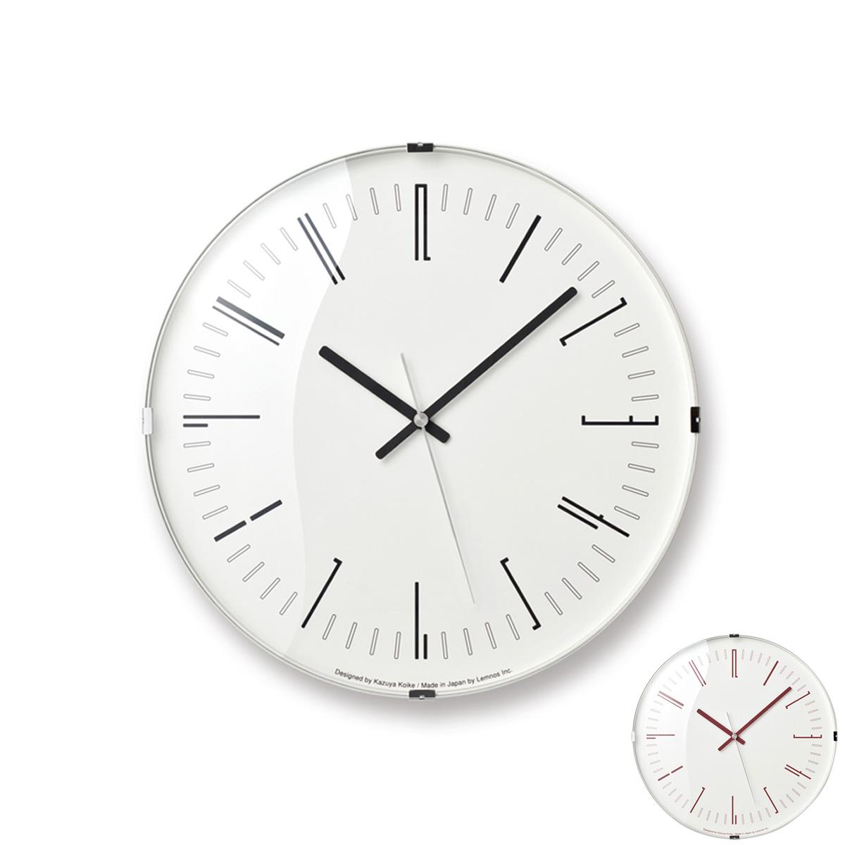 【あす楽】Draw wall clock 電波時計 レッド/ブラック 送料無料 時計 壁掛け 掛時計 インテリア Lemnos レムノス タカタレムノス デザイン オシャレ