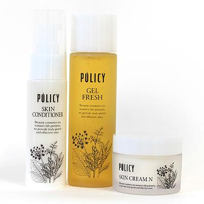 ポリシー化粧品 予防美容シリーズ3点セット(化粧水、美容液、保湿クリーム) ~未来の肌へ~