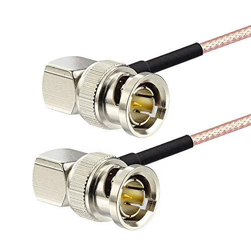 サイズ:0.5M BNCケーブル 50cm 両端L型 75Ω HD-SDIケーブル HD-SDI 4K8K対応品 即日出荷 特売 5C 音声信号 映像 1本 3G-SDI等対応