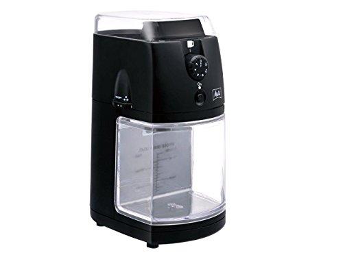 色:ブラック メリタ Melitta コーヒー 信用 グラインダー コーヒーミル 電動 フラットディスク式 蔵 100g 杯数目盛り付き 定格時間 CG-5B パーフェクトタッチII 90秒間 ホッパー