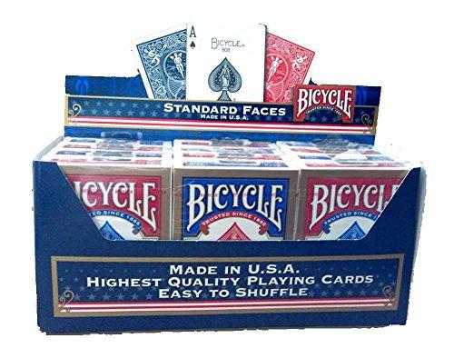 低価格 BICYCLE バイスクル ライダーバック STANDARD 25%OFF 赤6個 トランプ 12個パック 青6個