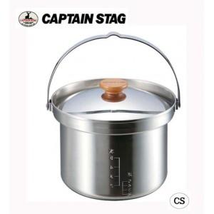 CAPTAIN STAG 3層鋼 段付ライスクッカー(5合)【沖縄県と離島は配送不可】 ライスクッカー 炊飯器 釜 時短 時間短縮 お米 新米 米 おこめ