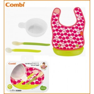 围裙婴儿标签油 Combi (组合) 将下降为第一次吃 / 餐具 / 围兜 / 婴儿围兜 / 围裙 /