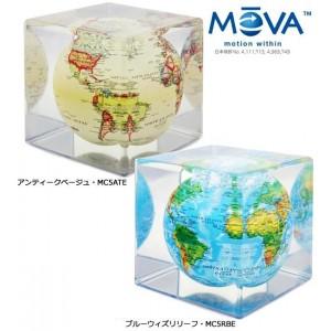 電源不要! ゆっくり回る不思議なエコ地球儀! MOVA Cube グローブ 12.7cm 【送料無料・代引き無料・キャンセル不可】【smtb-k】【w1】/地球儀/インテリア/アンティーク/浮く/光る/レイメイ/