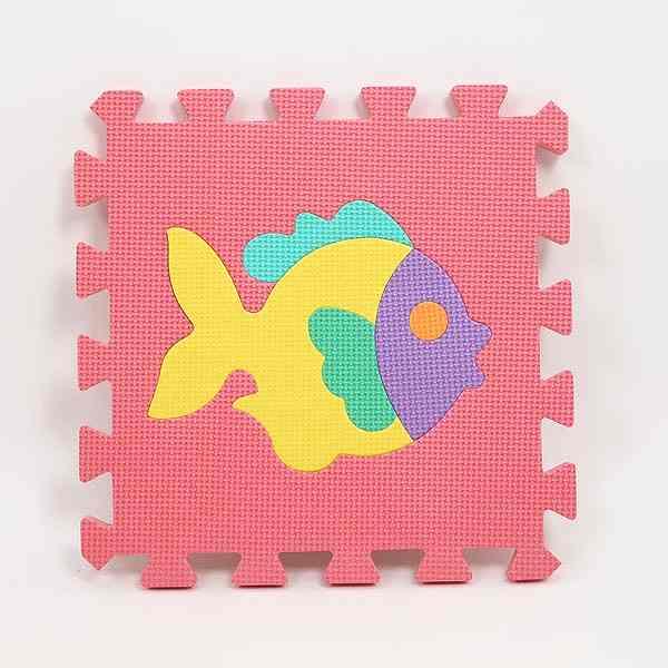 Puzzle Mat Nine Pieces Animal Joint Carpet Tile Floor Large Size Set Baby Pet Pority Soundproofing Effect Solid Kids
