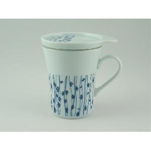 無料 お茶の風景に和をそえて 出群 ポットなしでお茶を楽しめます セレック 藍雫 つるの葉 STM-25 ティーメイトマグ