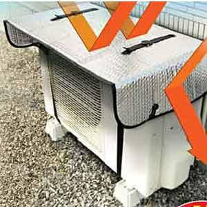 室外機の温度上昇を抑え 室外機への負担を軽減 国際メール便 エアコン室外機用 ワイドでしっかり遮熱エコパネル エコ 室外機カバー アルミ 日よけ 省エネ ワンタッチ 激安 保護カバー 再再販 簡単 節電効果 反射 電気代 負担軽減