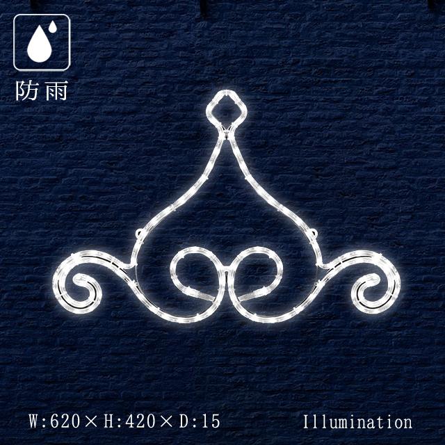 業務用 イルミネーション モチーフ 2D クリスマス 屋外 防雨 LED ロープライト エンブレム ジュエル