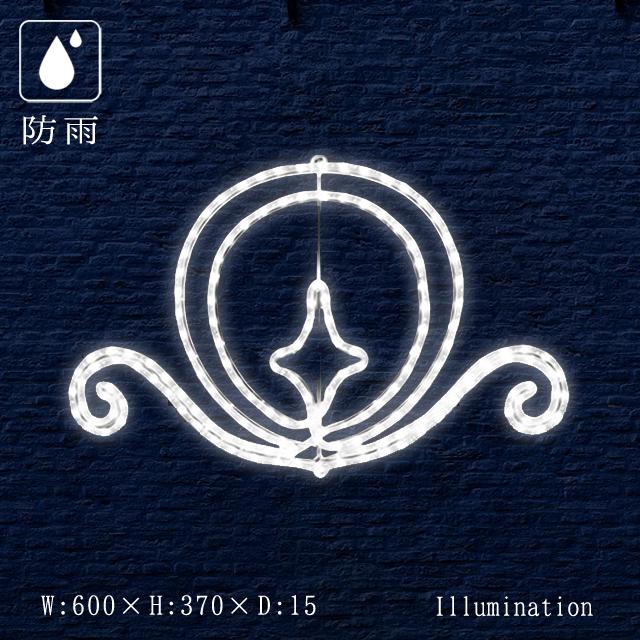 業務用 イルミネーション モチーフ 2D クリスマス 屋外 防雨 LED ロープライト エンブレム パール