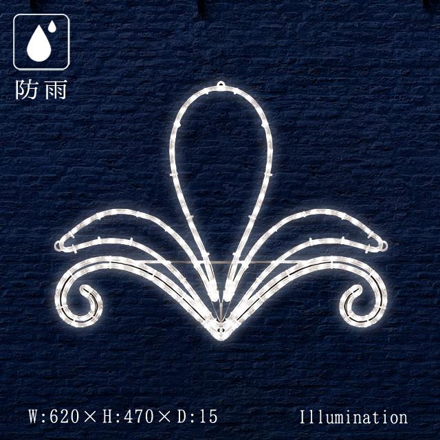業務用 イルミネーション モチーフ 2D クリスマス 屋外 防雨 LED ロープライト エンブレム プラント