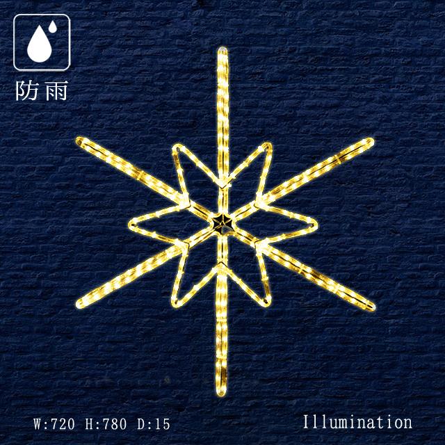 業務用 イルミネーション 大型モチーフ 2D クリスマス 屋外 防雨 LEDロープライトツインクル スノーフラッシュ (中)