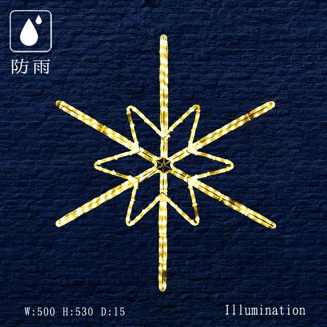 業務用 イルミネーション 大型モチーフ 2D クリスマス 屋外 防雨 LEDロープライトツインクル スノーフラッシュ (小)