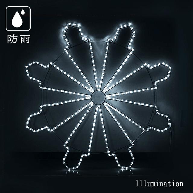 業務用 イルミネーション モチーフ 2D クリスマス 雪 屋外 防雨 LEDクリスタルブランチ ホワイト