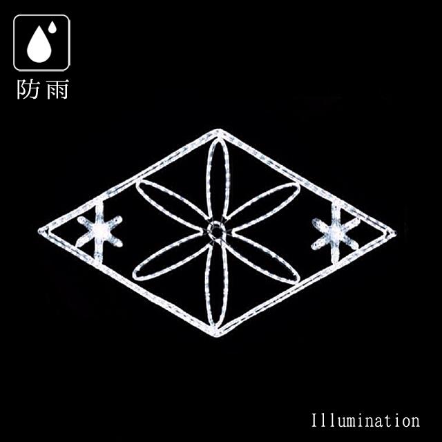 【業務用 イルミネーション モチーフ 2D】クリスマス 屋外 防雨 LEDロープライト ブリリアントダイヤ