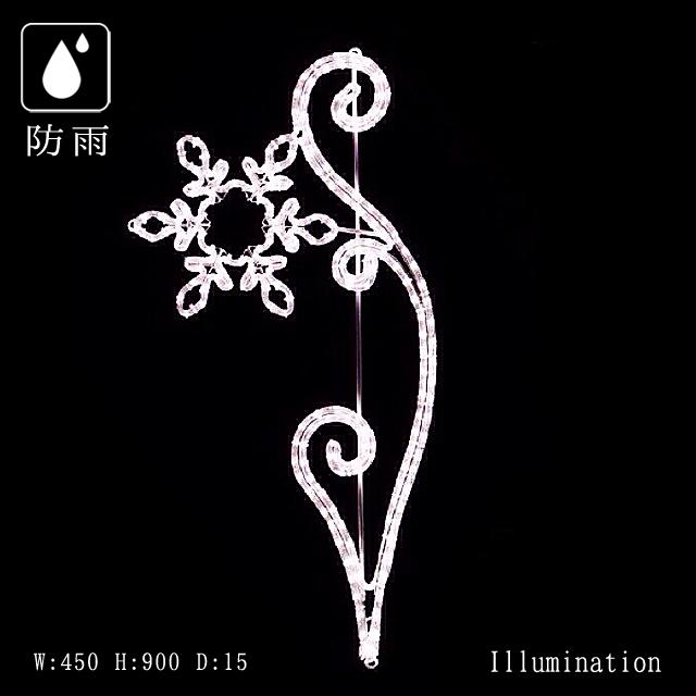 業務用 イルミネーション モチーフ 2D クリスマス 屋外 防雨 LEDロープライト ゴシック スノーブランチ