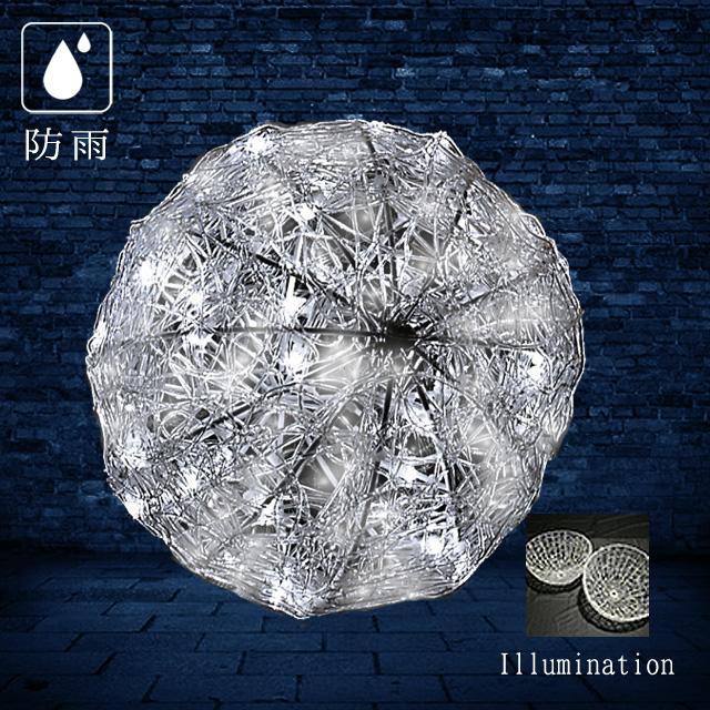 業務用 イルミネーション モチーフ 3D 屋外 防雨 LEDクリスタルグローボール (中) ホワイト