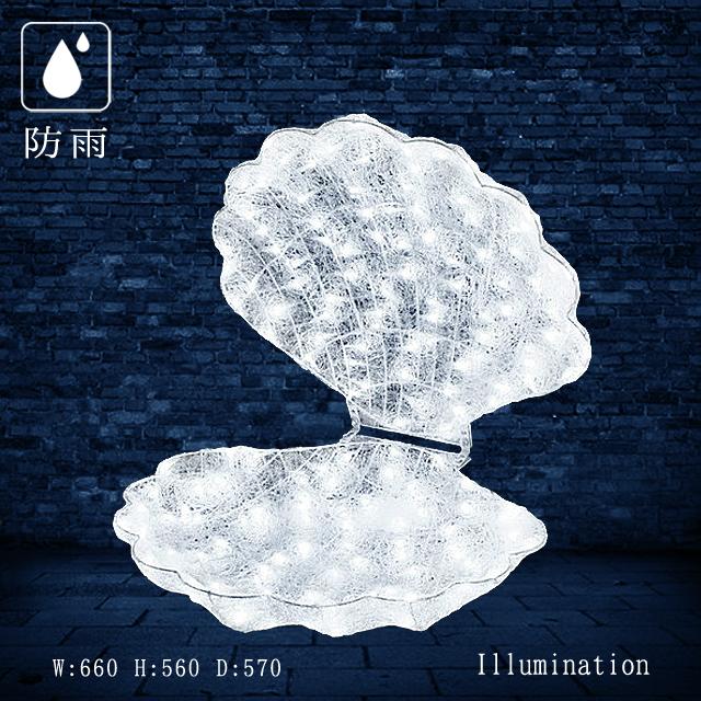 業務用 イルミネーション モチーフ 3D クリスマス フィッシュ  屋外 防雨 LED クリスタルグロー シェル