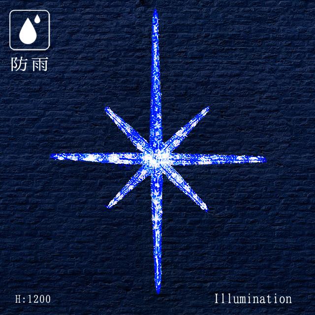 業務用 イルミネーション モチーフ 3D 屋外 防雨 LED クリスタルグロー スノーフレーク ブルー