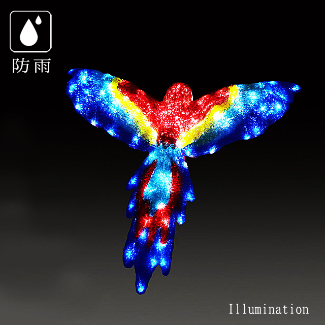 業務用 イルミネーション モチーフ 3D クリスマス 屋外 防雨 LED クリスタルグローフライングコンゴウ