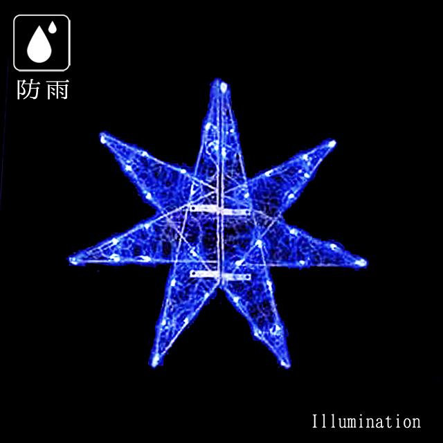 業務用 イルミネーション モチーフ 2D 屋外 防雨 LED セパレーツギャラクシー ギャラクシー2枚羽 (中) ブルー