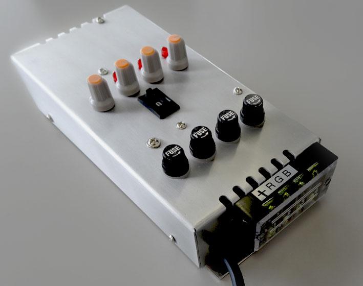 業務用 イルミネーション 取付アイテム RGBストリング用 パワーコントローラー60(連結60set)