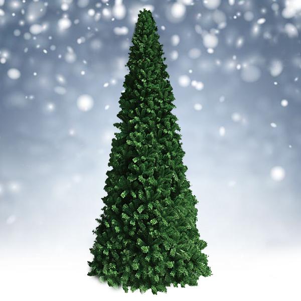 クリスマスツリー 10m ビックツリー グリーンビッグコーンツリースリム