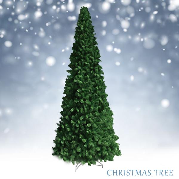 クリスマスツリー グリーンツリースリム 4m