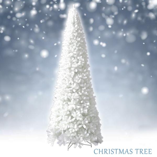 クリスマスツリー ホワイトツリースリム 5m
