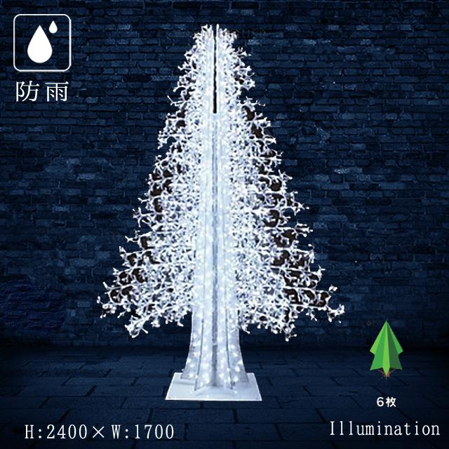 業務用 イルミネーション 大型モチーフ 3D クリスマス 屋外 防雨 LEDストリング アビエスツリー 6枚