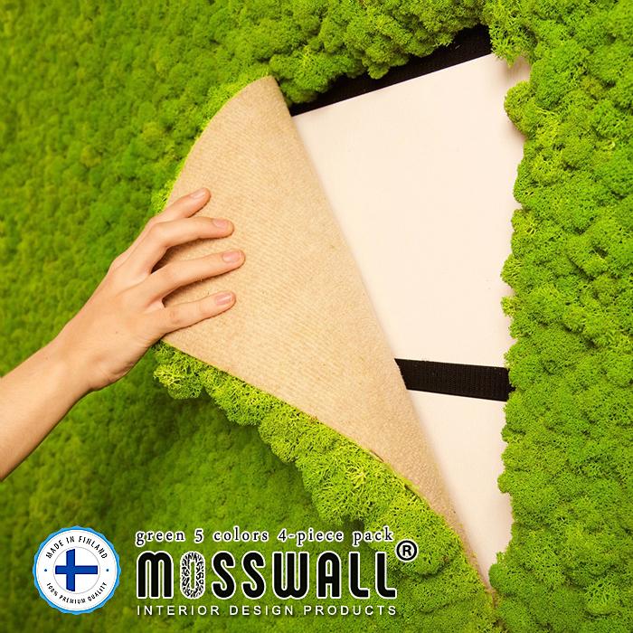 グリーンウォール ウォールグリーン モスウォール MOSSWALL 40×60cm 4枚set 壁面緑化 壁面緑化パネル モス プリザーブド プリザーブドフラワー 壁掛け インテリアグリーン レインディアモス 苔 DIY モスパネル 送料無料