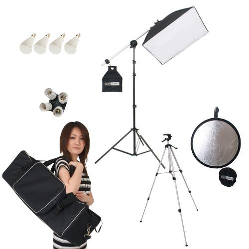ライトグラフィカ 「すぐ撮る」ミディアム1灯 撮影用LED電球照明1灯セット