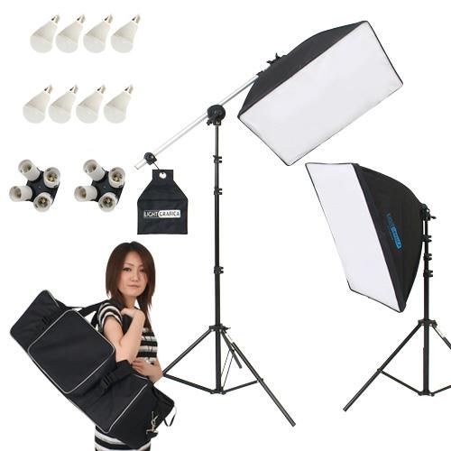 ライトグラフィカ 「すぐ撮る」ミディアム 撮影用LED電球照明2灯セット