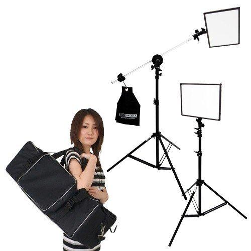 撮影照明 撮影機材の専門店 東京発 予約販売品 即日出荷可 ライトグラフィカ すぐ撮る ミディアム撮影用LEDパネル2灯セット 格安 価格でご提供いたします
