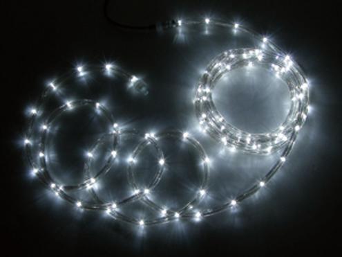 ジェフコム LEDソフトネオン 64m 白・白(ロッドのみ) PR3L-E24-64WW