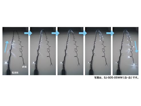 ジェフコム LEDルミネーション(連結タイプ) LEDストリングフォール 10m 白・白 SJ-S05-10WW