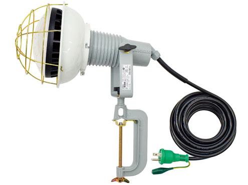 バラストレス水銀灯500W以上の明るさ 日動工業 AFL-E5010J LED エコビック投光器 アース付 在庫処分 未使用品 取付枠タイプ 50W 電線長10m