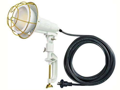 日動工業 TOL-1405-50K LEDエコビック投光器14W スライドタイプ 作業用 投光器 昼白色 バイス付(球付属) 灯具白 VCT 5m 2P