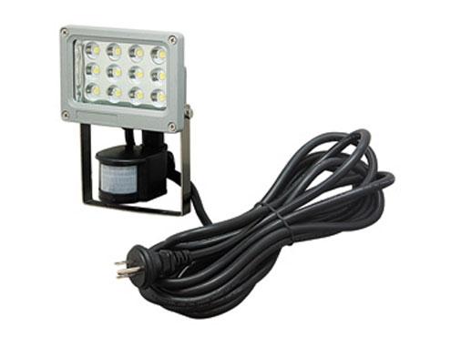 ジェフコム LED投光器 12W・センサータイプ PDS-0112C