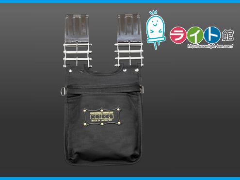 KNICKS ニックスバリスティックナイロン生地2段腰袋〈刺繍ワッペン/黒・金〉KBA-201BG