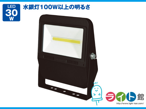 日動工業 LEDフラットライト 常設用 LJS-F30D-BK-50K