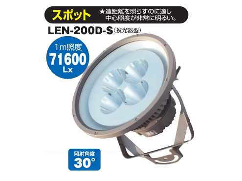LED ギガライト 200W(スポット) 日動工業 LEN-200D-S