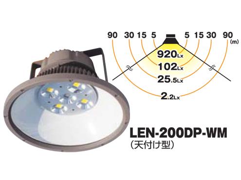LED ギガライト 200W 日動工業 LEN-200DP-WM(天付け型)