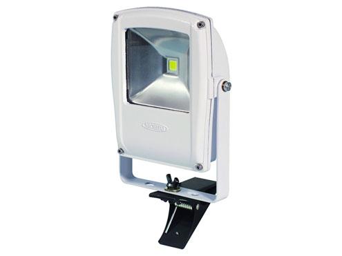 日動工業 LEDエコナイター フラットライト LEN-F10C-W-S クリップ付 本体白 電球色