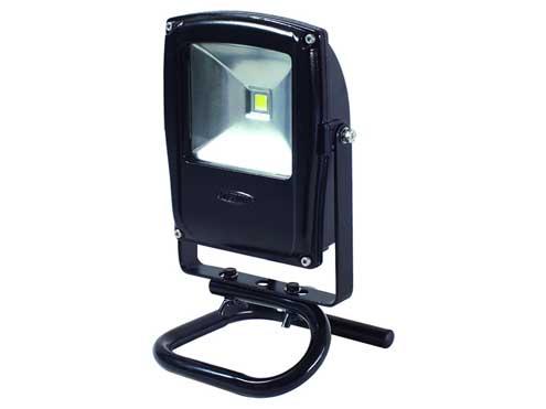 日動工業 LEDフラットライト LEN-F10S-BK (黒)10w 床スタンド付
